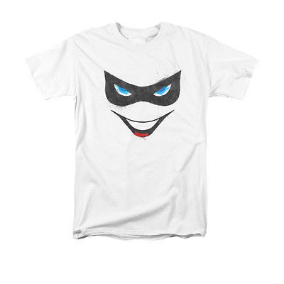 Batman Harley Quinn Face T-SHIRT Joker Batman superhero villain 100% cotton tee