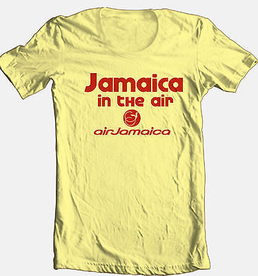 Air Jamaica T shirt retro airlines reggae rasta beach 100% cotton graphic tee
