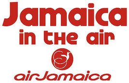 Air Jamaica T shirt retro airlines reggae rasta beach 100% cotton graphic tee image 2