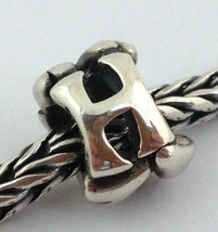 Authentic Trollbeads Sterling Silver Letter H Charm 11144H, New - $22.80
