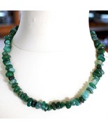 Silver Necklace 925 with Agate Green Banded, 50 or 75 cm Length - $80.81+