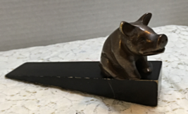 Vintage Inspired Wood Wedge Brass Pig // Farmhouse Chic //  - $7.00