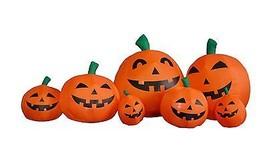 7.5 FOOT Long Halloween Inflatable Pumpkins Garden Yard Party Decoration... - $89.00