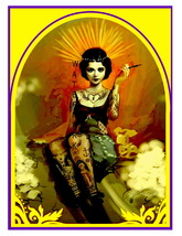 Tattooed Lady Vintage 13 x 10 inch Vintage Giclee CANVAS Print  (style 1) - $19.95
