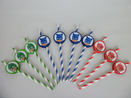 pj Masks party favors,straws. birthday party, Girls/boys... SET OF 10 - €7,16 EUR