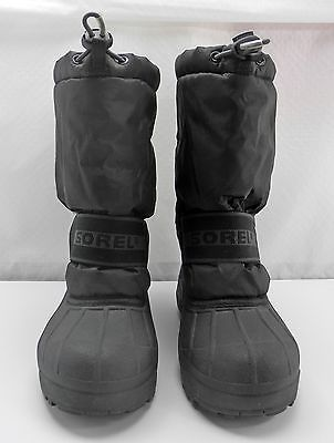 Primary image for Sorel Black Snow Chariot Winter Boots - Drawstring Top-Removable Liners - Size 6