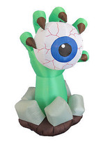 Party Halloween Inflatable Monster Hand Eyeball Yard Outdoor Decoration ... - $85.00