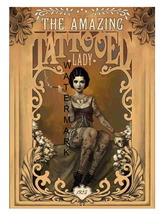 The Amazing Tattooed Lady 13 x 10 inch Giclee CANVAS Print  Style-3 - $19.95
