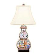 "Beautiful Chinese Porcelain Rose Medallion Canton Vase Table Lamp 26.5"" - $296.99"