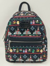 Disney Loungefly Ugly Sweater Attractions Christmas 2020 Backpack - $89.99