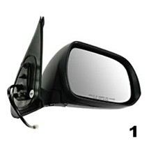 Fits for 12-14 Toy Tacoma Right Pass Mirror Power Smooth Black Manual Fo... - $76.60