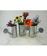 3pc Silver Speckled Water Cans bucket pail plan... - $17.53