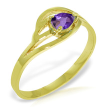 Brand New 0.3 CTW 14K Solid Gold No Emotional Gap Amethyst Ring - $210.18