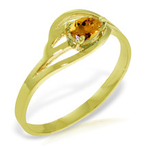 Brand New 0.3 CTW 14K Solid Gold Brave Eyes Citrine Ring - $210.18