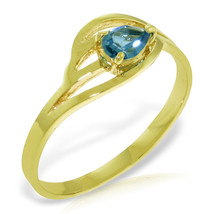 Brand New 0.3 CTW 14K Solid Gold Barefoot Dance Blue Topaz Ring - £151.55 GBP