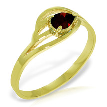 Brand New 0.3 Carat 14K Solid Gold Grain Of Truth Garnet Ring - $210.18