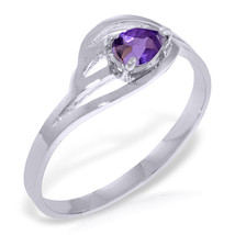 Brand New 0.3 Carat 14K Solid White Gold Sirens Amethyst Ring - $215.18