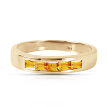 Brand New 0.6 CTW 14K Solid Gold Tangerine Sherbet Citrine Ring - $321.07