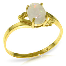 Brand New 0.45 Carat 14K Solid Gold Nearly Bare Opal Ring - $149.77