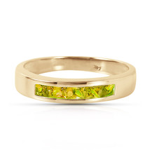 Brand New 0.6 CTW 14K Solid Gold Somewhere Inside Me Peridot Ring - $321.07