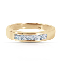 Brand New 0.5 Carat 14K Solid Gold Knocking On Your Door Aquamarine Ring - $326.97