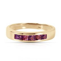 Brand New 0.6 CTW 14K Solid Gold Bliss Is Found Here Amethyst Ring - $321.07