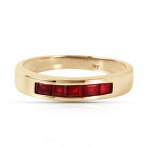Brand New 0.6 Carat 14K Solid Gold Summer's Miracle Ruby Ring - £236.96 GBP