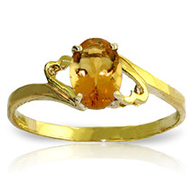 Brand New 0.9 Carat 14K Solid Gold Carnations Citrine Ring - $142.94