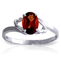 Brand New 0.9 Carat 14K Solid White Gold Irresistable Touch Garnet Ring - $141.88