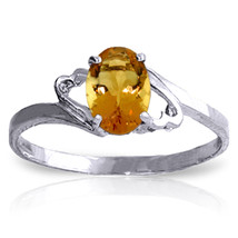 Brand New 0.9 CTW 14K Solid White Gold My Endless Love Citrine Ring - $147.94