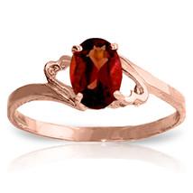Brand New 0.9 Carat 14K Solid Rose Gold Gigi Garnet Ring - $144.88