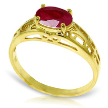 Brand New 1.15 CTW 14K Solid Gold Filigree Ring Natural Ruby - $248.39
