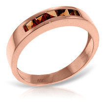 Brand New 14K Solid Rose Gold Rings with Natural Garnets - £249.55 GBP