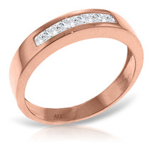Brand New 14K Solid Rose Gold Rings with  Natural White Topaz - £249.55 GBP