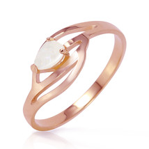Brand New 14K Solid Rose Gold Ring with Natural Opal - £166.30 GBP