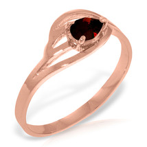 Brand New 14K Solid Rose Gold Ring with Natural Garnet - £165.45 GBP