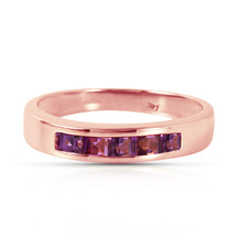 Brand New 14K Solid Rose Gold Rings with Natural Purple Amethysts - £249.55 GBP