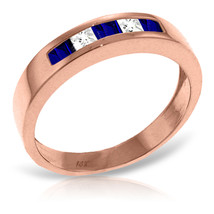 Brand New 14K Solid Rose Gold Rings with Natural Sapphires & Rose Topaz - £264.17 GBP