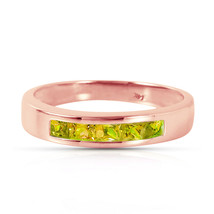 Brand New 14K Solid Rose Gold Rings with Natural Peridots - £249.55 GBP