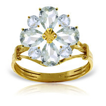 Brand New 2.43 CTW 14K Solid Gold Ring Natural Aquamarine - $383.70