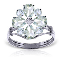 Brand New 2.43 CTW 14K Solid White Gold Ring Natural Aquamarine - $388.70