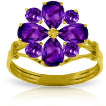 Brand New 2.43 CTW 14K Solid Gold What Lies Ahead Amethyst Ring - $335.02
