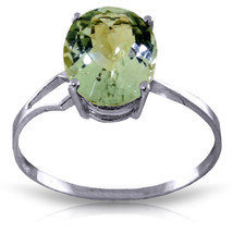 Brand New 2.2 CTW 14K   White Gold Ring Checkerboard Cut Green Amethyst - £142.64 GBP