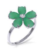Brand New 2.22 CT 14K White Gold Emerald Natural Diamond Ring - $368.85