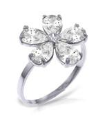 Brand New 2.22 CT 14K   White Gold Ring Natural Diamond White Topaz - $252.81