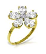 Brand New 2.22 CTW 14K Solid Gold Ring Natural Diamond White Topaz - $247.81