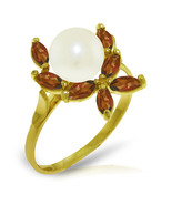 Brand New 2.65 CTW 14K Solid Gold Ring Natural Garnet pearl - $197.55