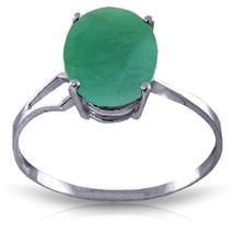 Brand New 2.9 CTW 14K Solid White Gold Le Seine Emerald Ring - £235.37 GBP