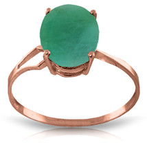 Brand New 2.9 Carat 14K Solid Rose Gold Opulence Emerald Ring - £237.64 GBP