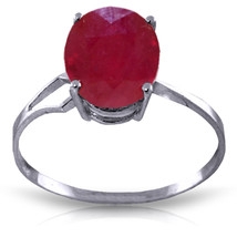 Brand New 3.5 CTW 14K Solid White Gold Path Not Taken Ruby Ring - $279.55